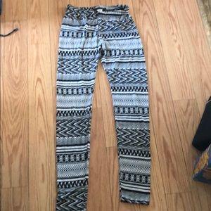 Milkyway Black/White Print Leggings